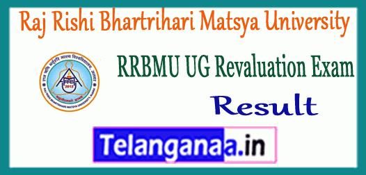 RRBMU Raj Rishi Bhartrihari Matsya University UG Revaluation Result