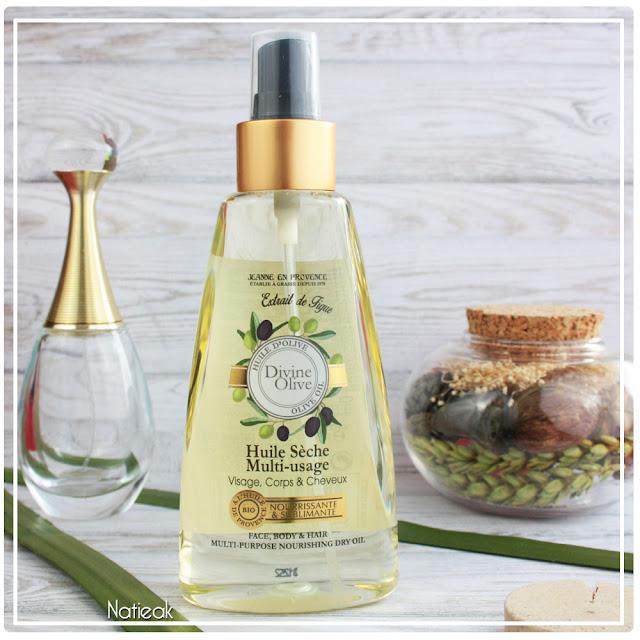 Huile sèche multi-usage Divine olive de Jeanne en Provence