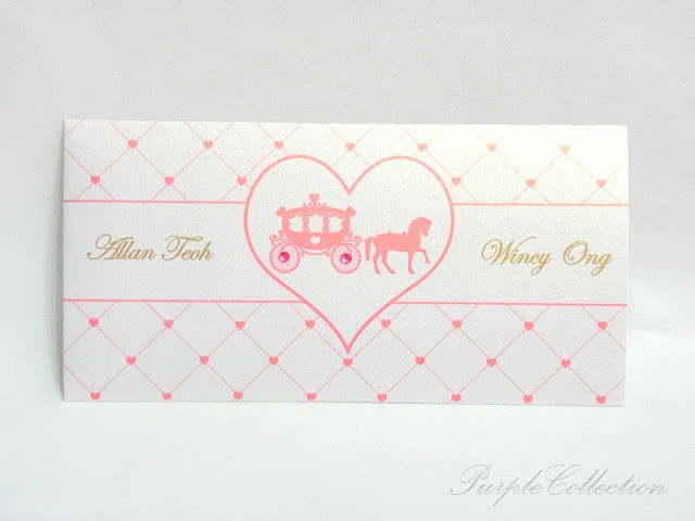 Pocket Wedding Invitation Cards, pink stripes pocket, pink card, pink, invitation card, wedding, wedding invitation card, pearl white card, 2 pink flatback rhinestones, pocket invitation cards, pocket card, wedding cards