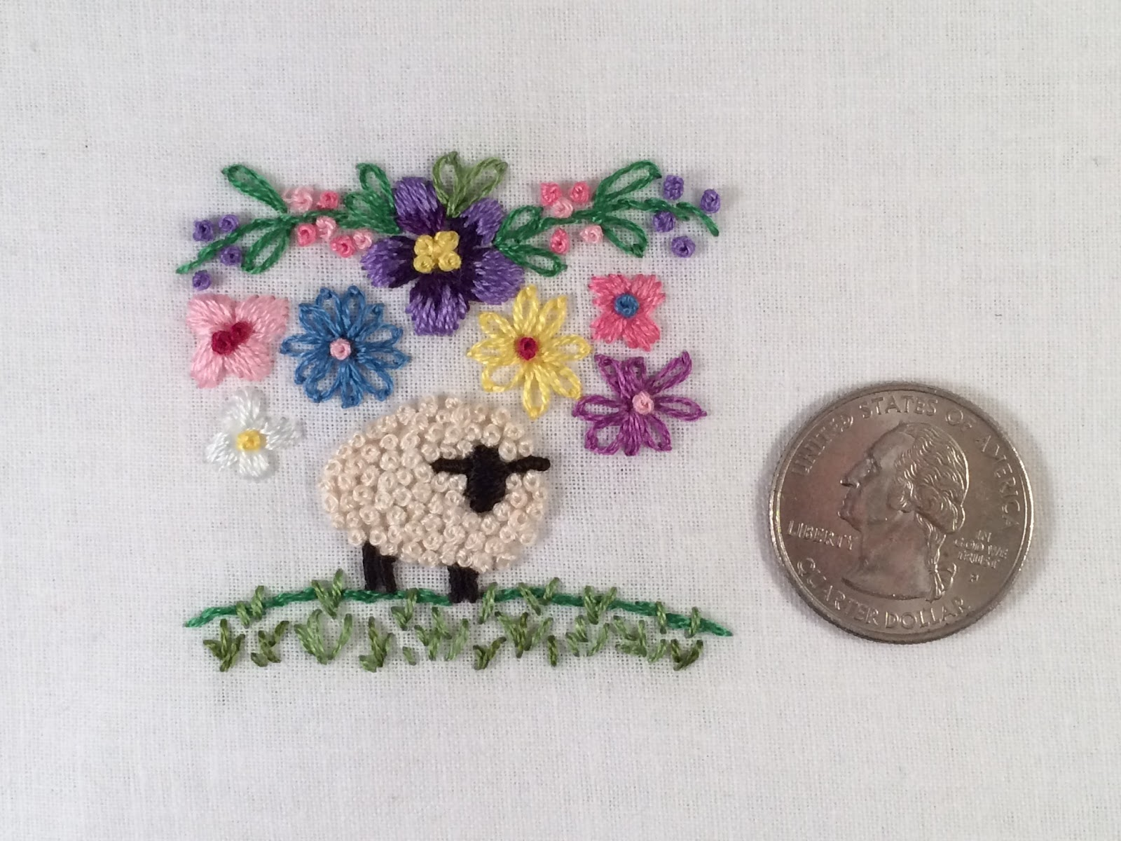 embroidered sheep