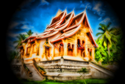 Random Awesome Image #8 - Painting of a Luangprabang temple in Laos