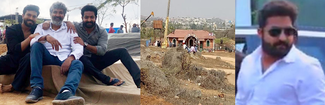 Rajamouli RRR Movie Shooting Location Leaked Pictures and Story Prediction