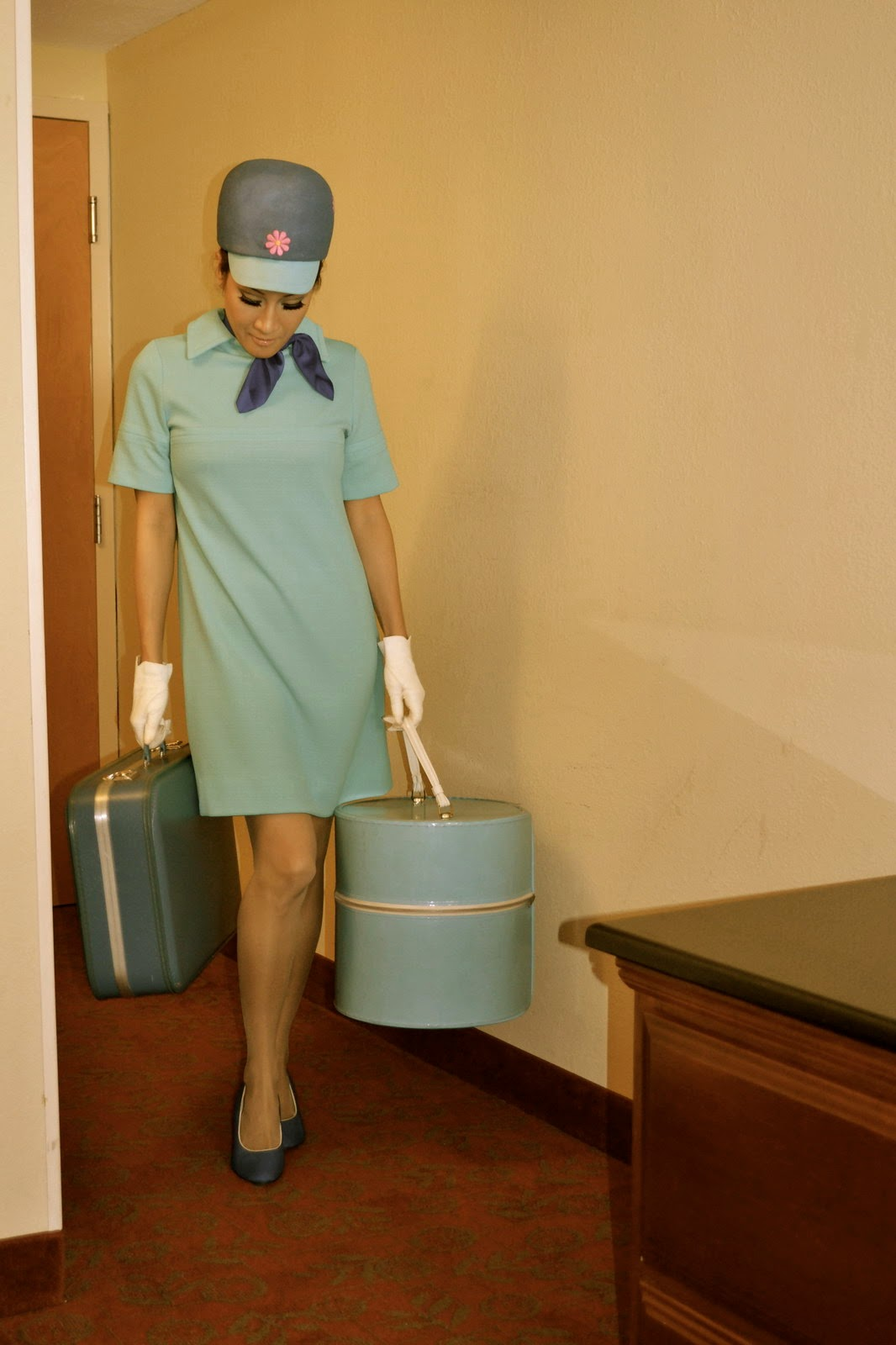 World Stewardess Crews Stewardess Costume In Vintage-2546