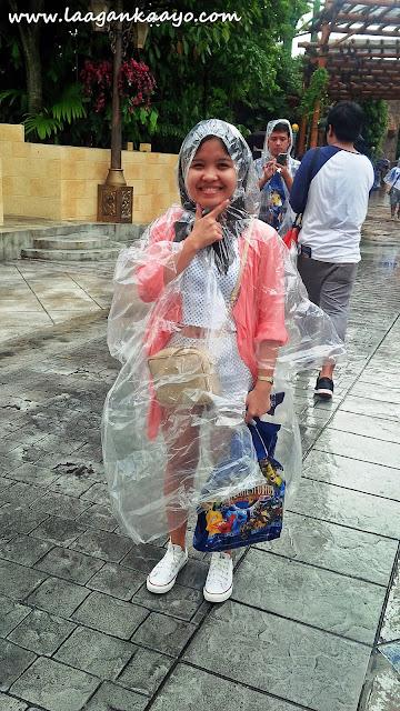 Raining in Universal Studios Singapore