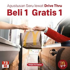 Promo Merdeka McDonald Beli 1 Gratis 1 Khusus Drive Thru