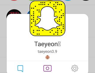 snsd taeyeon snapchat