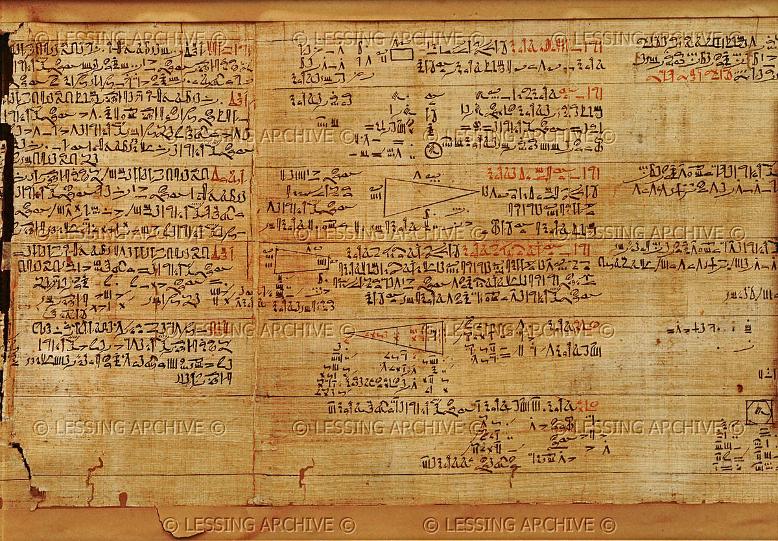 Os Papiros da Matemática Egípcia - O Papiro de Rhind ou Ahmes