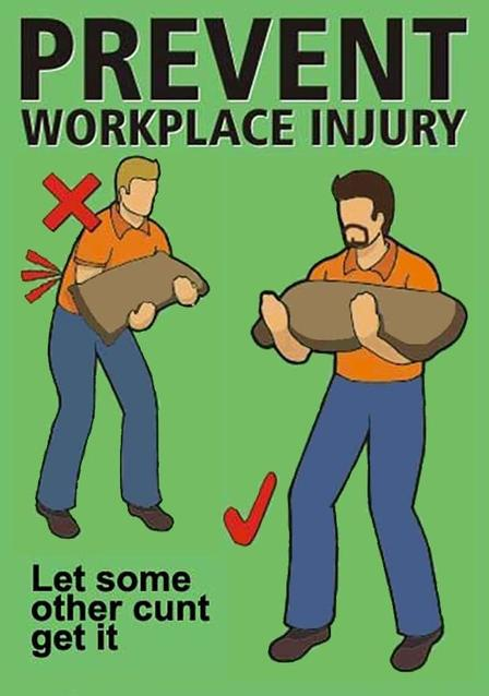 Prevent workplace injury