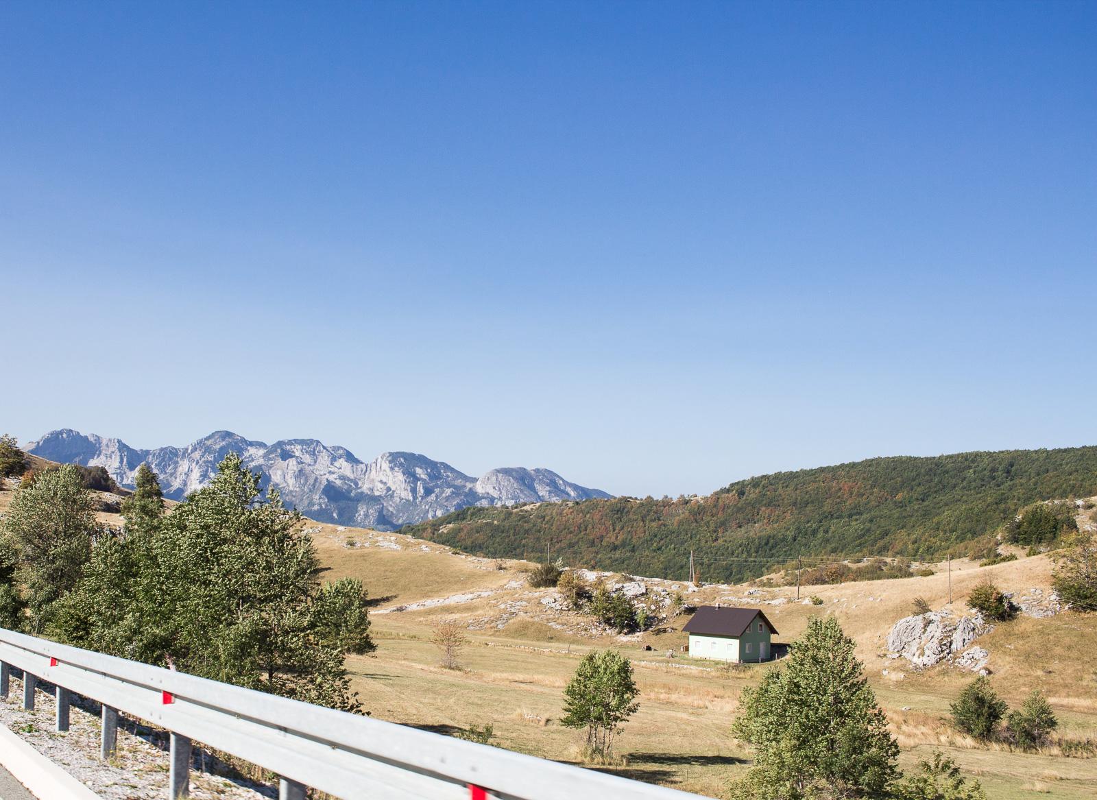 Unser Roadtrip nach Montenegro - Gebirge in der Nähe von Savnik