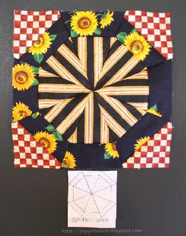 http://joysjotsshots.blogspot.com/2013/09/quilt-shot-block-12-spider-web.html