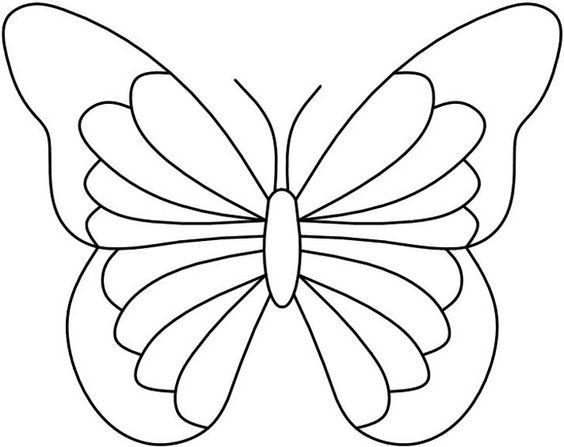 Tranh tô màu con bướm dễ cho bé
