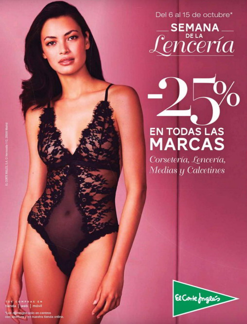 ventas calientes aa9df f9d76 me gusta ahorrar: Semana de la lencería en El Corte Inglés