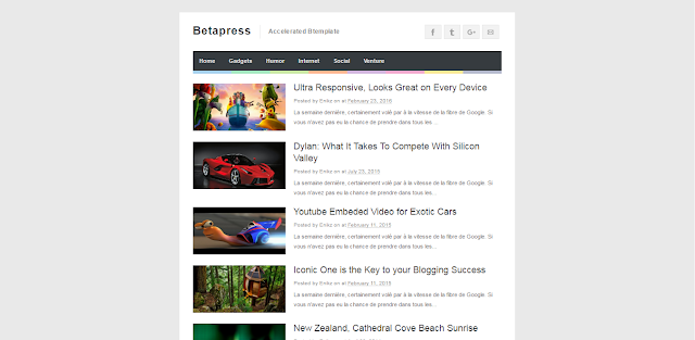 Betapress Blogger Template Simple And Free Download
