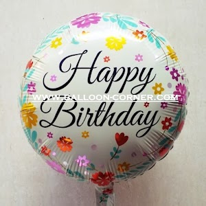 Balon Foil Bulat Motif HAPPY BIRTHDAY / Balon Foil Bulat HBD (13)