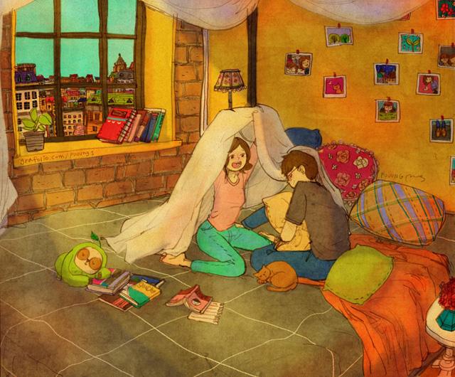 Aşk battaniyeden kale yapmaktır