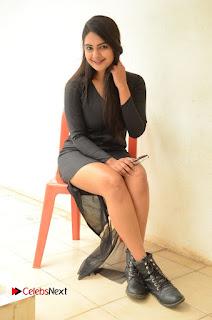 Actress Neha Deshpande Pictures in Black Short Dress at Bullet Movie Opening  0116.JPG