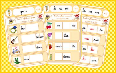 Ecrire la syllabe manquante : 40 fiches pour écrire la syllabe
