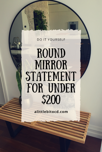DIY OVERSIZED ROUND MIRROR