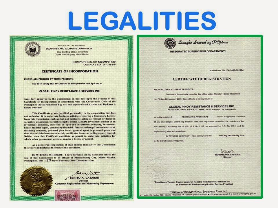 Affiliations And Legalities