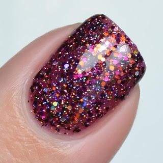 autumn glitter nail polish