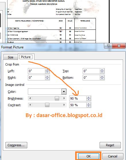 Cara Membuat Gambar Transparan Watermark Di Excel Sekolah Daring