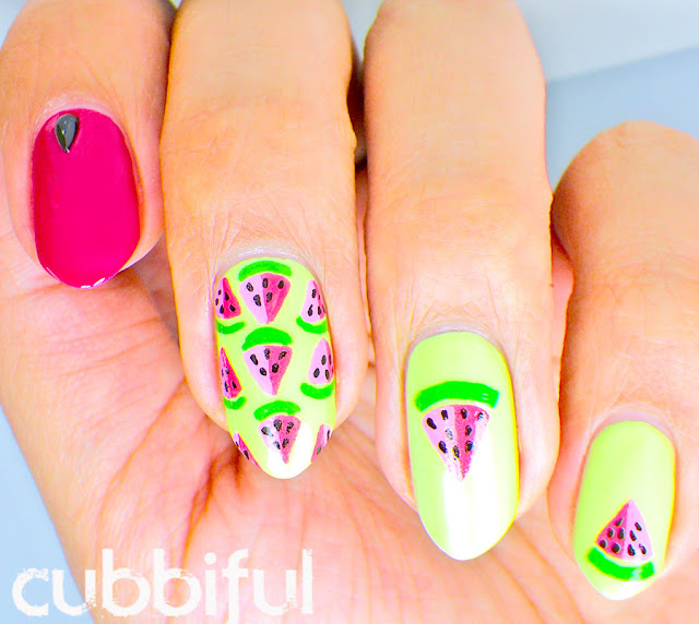 Summer Watermelon Nails