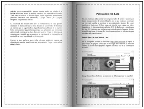 Vista previa del libro publicado en Createspace