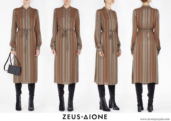 Queen Maxima wore Zeus + Dione Hera Midi textured silk dress
