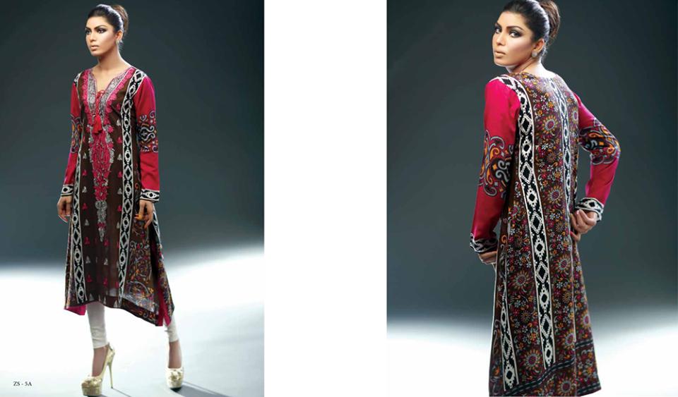 Winter Kurti Designs 2015   Sania Zara Formal Wear Kurtis ...