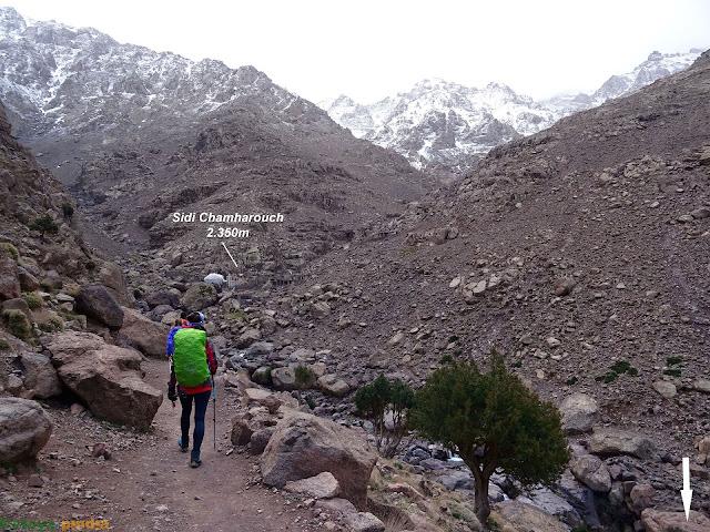 Llegando al santuario de Sidi Chamharouch