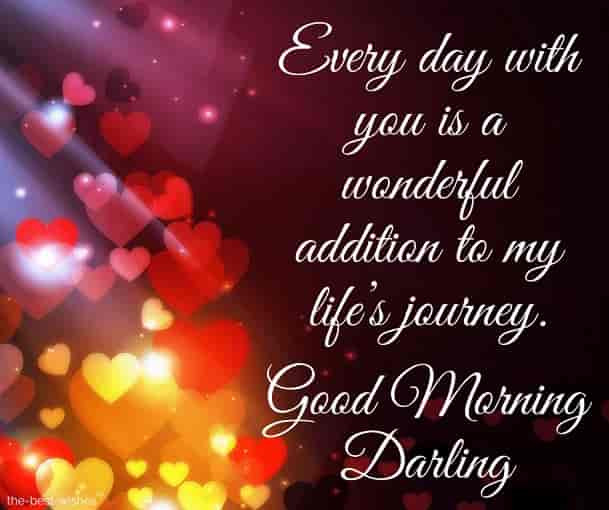 good morning darling status