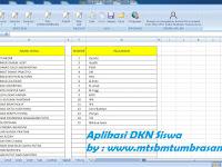 Aplikasi Daftar Kumpulan Nilai (DKN) Siswa - Excel