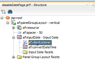 Disabling keyboard input in af:inputDate, restrict user to