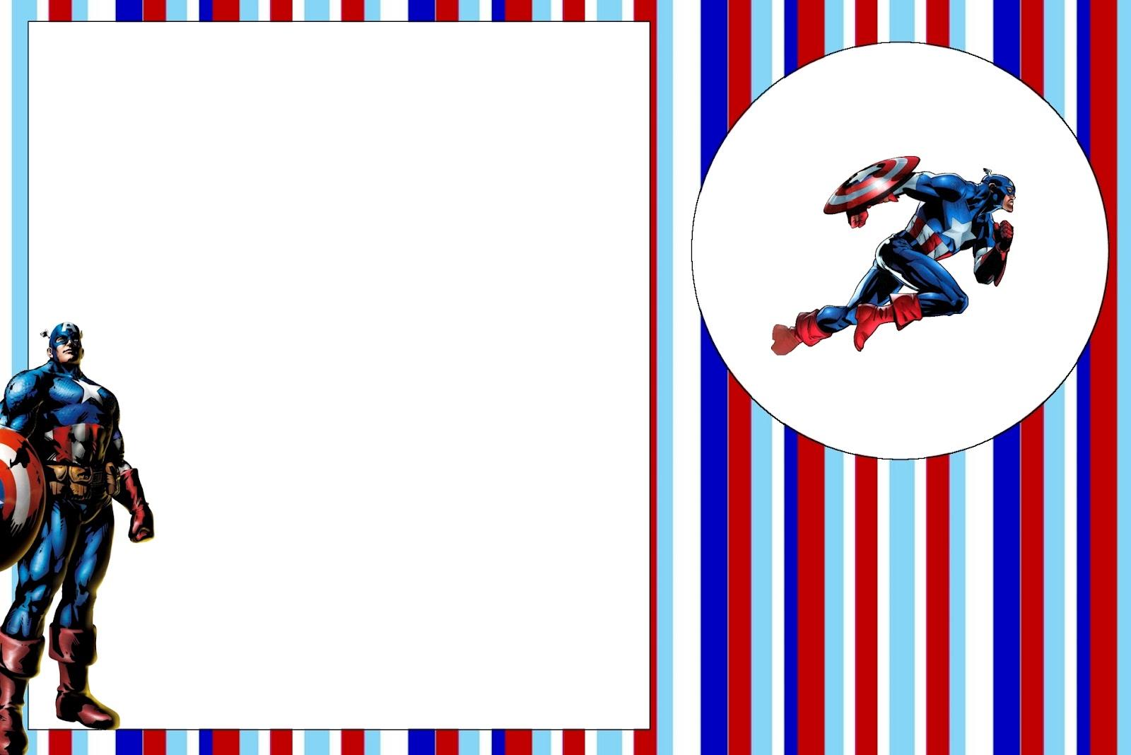 Imprimibles del Capitán América | Ideas y material gratis para ...