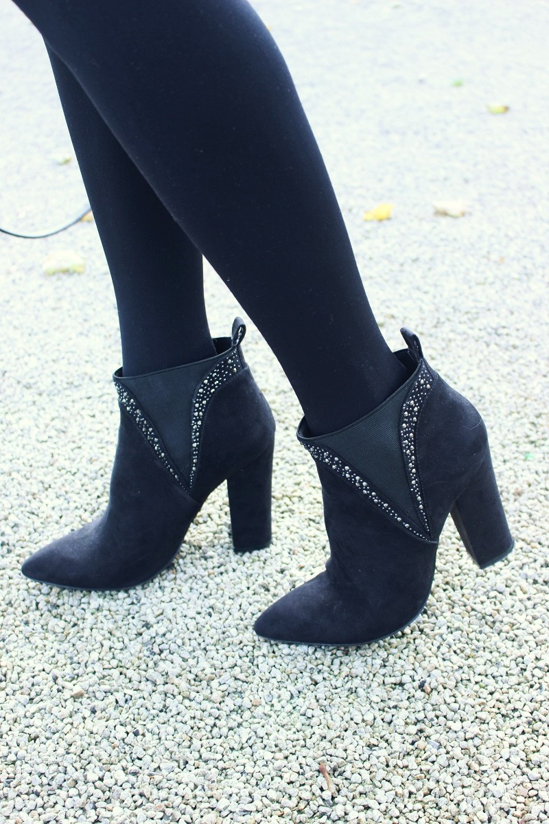 black boots, ankle boots,, ankle booties, moda in pelle