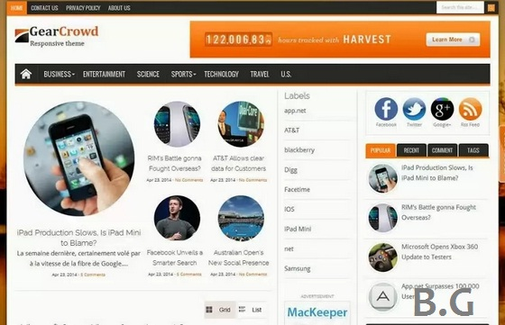 15 Top Collections Responsive Blogger Template for Magazine 2015