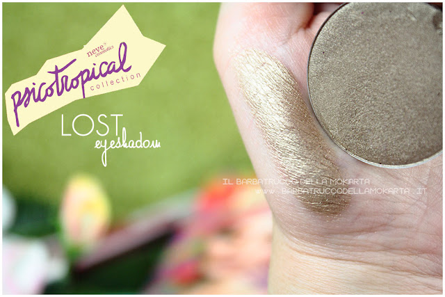 eyeshadow ombretti LOST SWATCHES psicotropical collection neve cosmetics