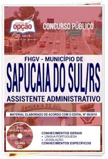 concurso-fhgv-municipio-de-sapucaia-do-sul-2018-apostila-cargo-assistente-administrativo-gratis