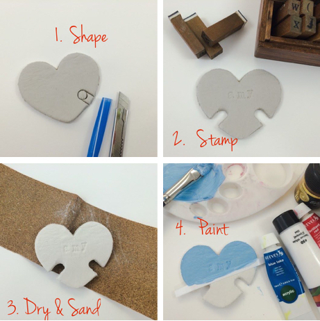DIY Craft: Earphone Cord Holder Made with Air Dry Clay