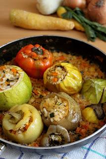 Пълнени зеленчуци с ориз/ Gemista