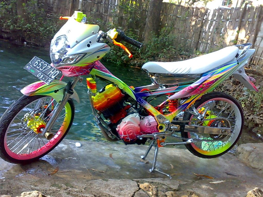 Gambar Modifikasi Drag Bike Motor Satria FU Drag 150 Terbaru