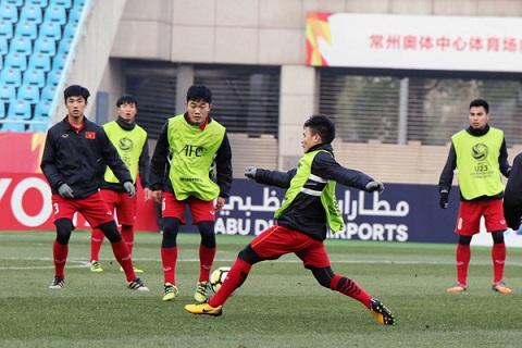 Duy Mạnh và U23 Việt Nam đang chăm chỉ tập luyện