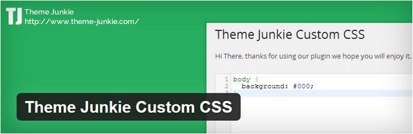 Theme Junkie Custom CSS for easy customization