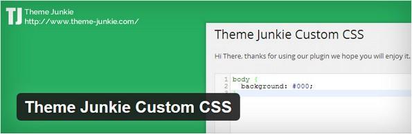 Theme Junkie Custom CSS for easy customization