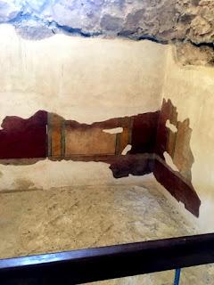 Tiles in the Roman bathhouse at Masada Israel