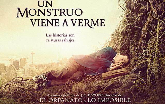 Cartel promocional de la película Un monstruo viene a verme