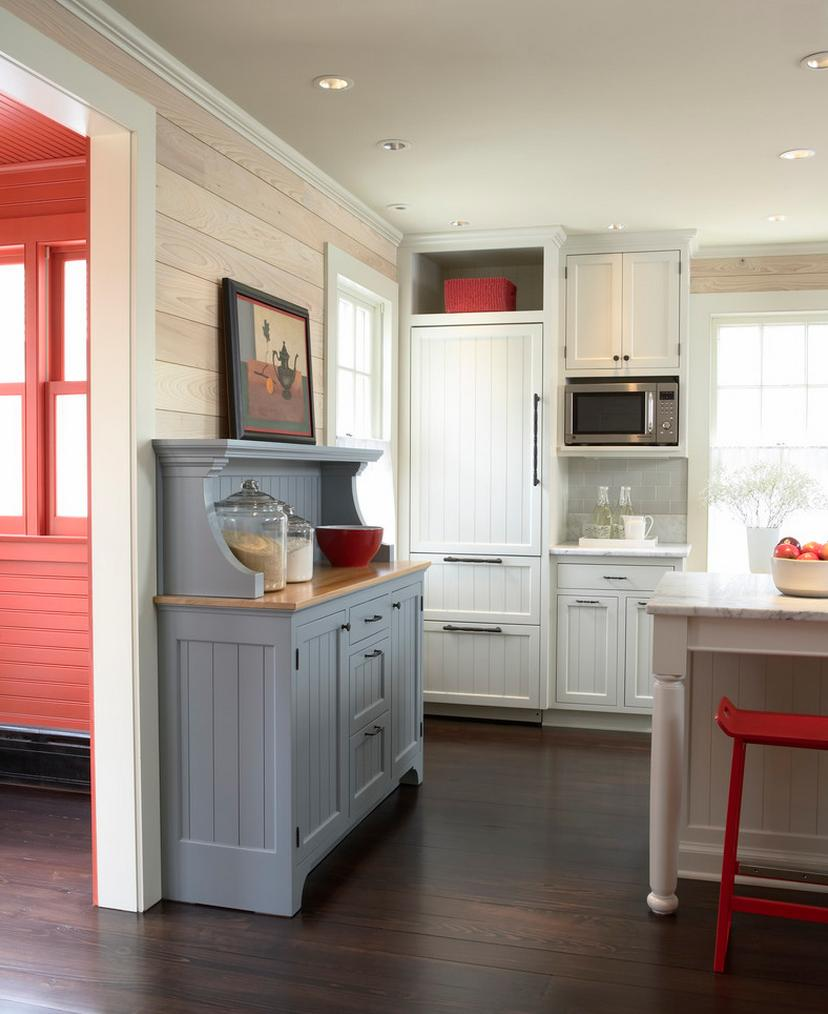 Blue Kitchen Walls: Delorme Designs: RED WHITE AND BLUE KITCHEN & WHAT NOT TA