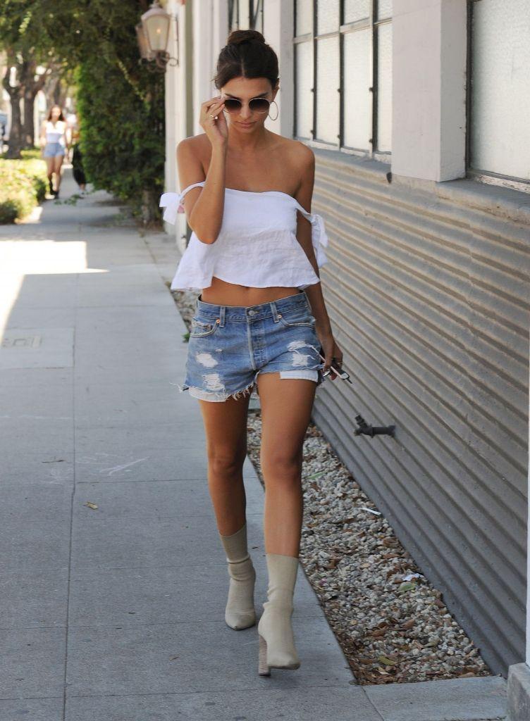 Emily Ratajkowski hot summer street style in Los Angeles