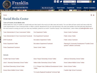 new Town of Franklin - social media accounts page. Want to follow the Twitter account or Facebook page?