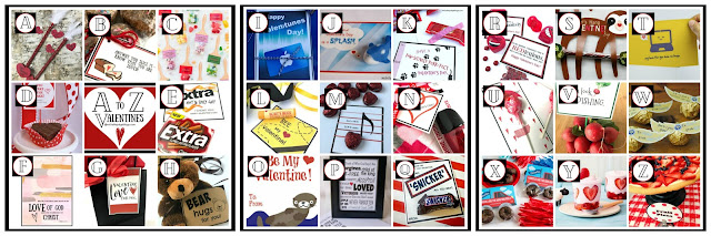 A to Z Valentine Printables, Puns & Ideas  @michellepaigeblogs.com